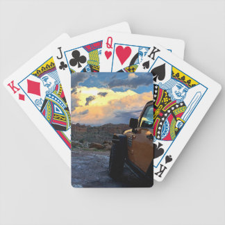 Jeep Sunset Bicycle Playing Cards