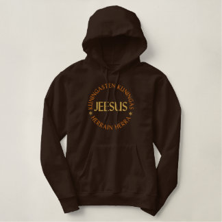 Jeesus, Jesus In Finnish - King of Kings and Lord Embroidered Hoodie