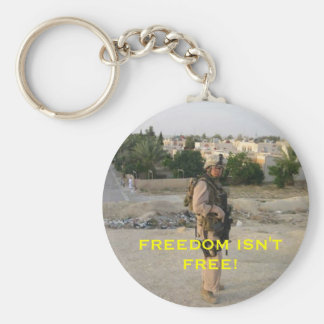 jeff4, FREEDOM ISN'T FREE! Basic Round Button Key Ring