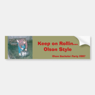 Jeff Olson Wedding Bumper Sticker