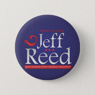 Jeff Reed for Congress 6 Cm Round Badge