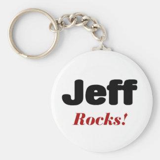 Jeff rocks key ring