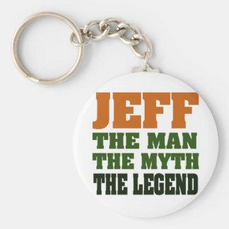 Jeff - the Man the Myth the Legend Keychain