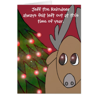 Jeff the Reindeer card