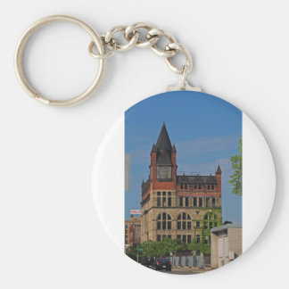 Jefferson and Ontario-vertical Basic Round Button Key Ring
