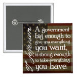 Jefferson: Beware of Big Government Pinback Buttons