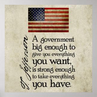 Jefferson Beware of Big Government Poster