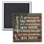 Jefferson: Beware of Big Government Square Magnet