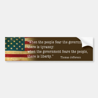 jefferson bumper sticker