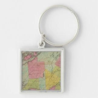 Jefferson County Silver-Colored Square Key Ring