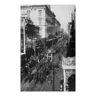 Jefferson Davis Funeral in New Orleans: 1908 Poster