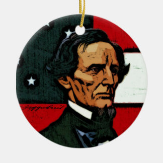 Jefferson Davis, President of the Confederacy Ceramic Ornament