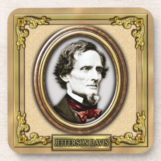 Jefferson F. Davis Civil War Beverage Coasters