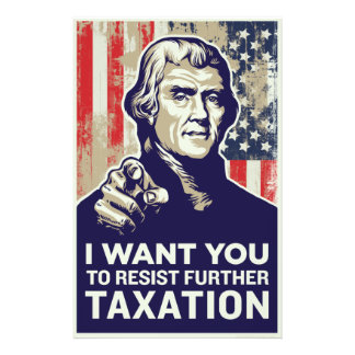 Jefferson I Want You Tax Resistance Flyer