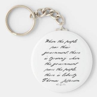 Jefferson Liberty Basic Round Button Key Ring