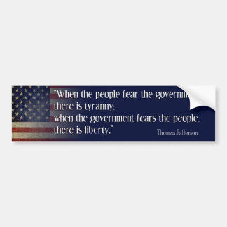 Jefferson: Liberty vs. Tyranny Bumper Stickers