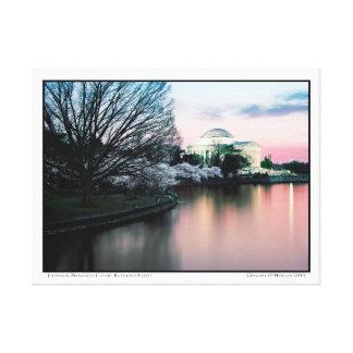 Jefferson Memorial- Cherry Blossoms- Sunset Canvas Print