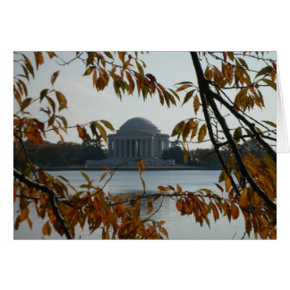 Jefferson Memorial in the Fall Card