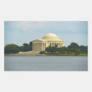 Jefferson Memorial in Washington DC Rectangular Sticker