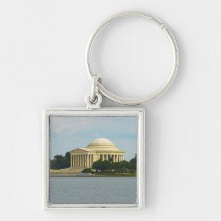 Jefferson Memorial in Washington DC Silver-Colored Square Key Ring