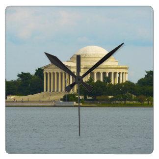 Jefferson Memorial in Washington DC Square Wall Clock