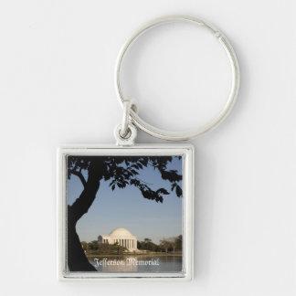 Jefferson Memorial, Washington DC Silver-Colored Square Key Ring