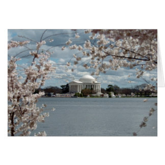 Jefferson Memorial with Cherry Blossoms Card