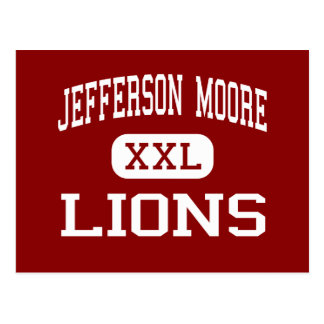 Jefferson Moore - Lions - High School - Waco Texas Postcard