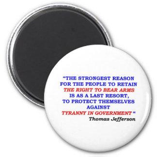 jefferson quote 6 cm round magnet