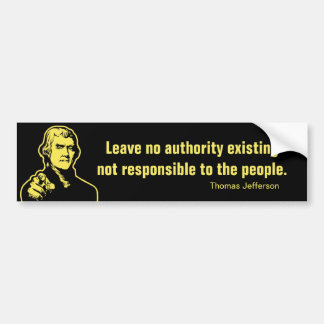 Jefferson Quote Bumper Sticker