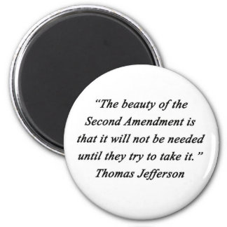 Jefferson - Second Amendment 6 Cm Round Magnet