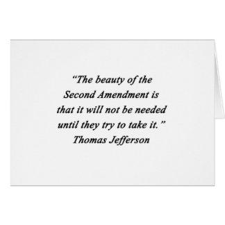 Jefferson - Second Amendment Card
