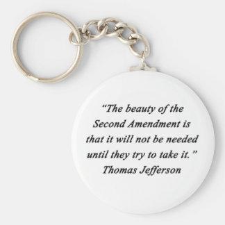 Jefferson - Second Amendment Key Ring