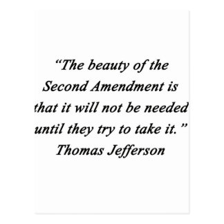 Jefferson - Second Amendment Postcard