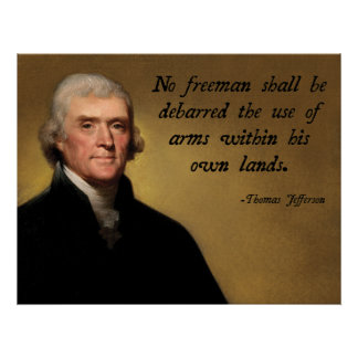 Jefferson Second Amendment Poster