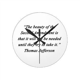 Jefferson - Second Amendment Round Clock