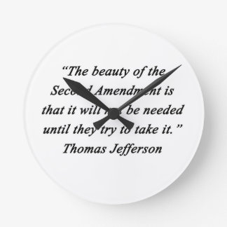 Jefferson - Second Amendment Wallclocks