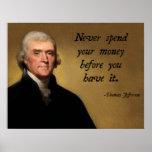 Jefferson Spending Quote Print