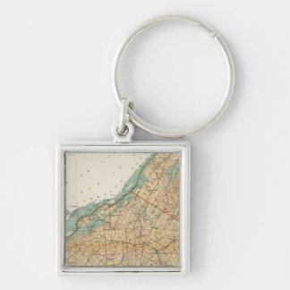 Jefferson, St Lawrence counties Silver-Colored Square Key Ring