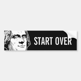 Jefferson Start Over Bumper Sticker