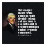 Jefferson: The Right to bear Arms Posters