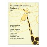 Jeffrey Giraffe Birthday Party Invitation