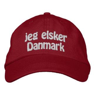 Jeg Elsker Danmark Embroidered Hat