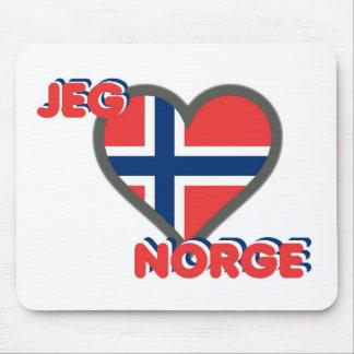 Jeg Elsker Norge (I Love Norway) Mouse Pad