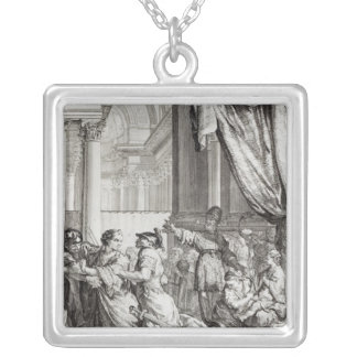 Jehoiada, High Priest of Jerusalem Proclaiming Silver Plated Necklace