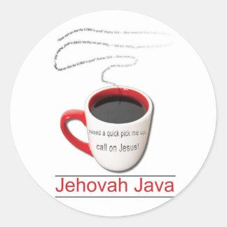 Jehovah Java Round Sticker