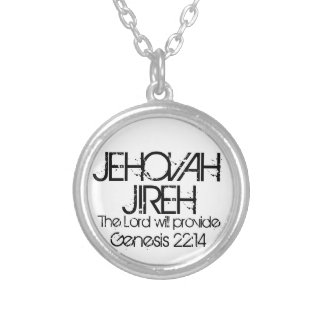 Jehovah Jireh bible verse Genesis 22:14 Silver Plated Necklace