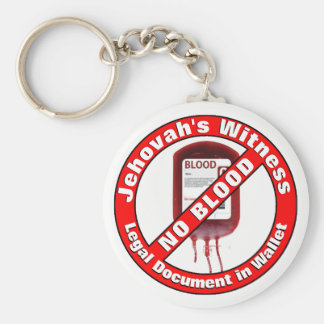 Jehovah's Witness - No Blood Key Ring