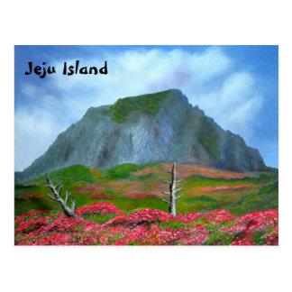 Jeju Island Korea (제주도) English text Postcard