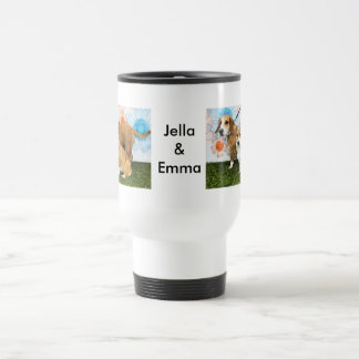 Jella = Corgi and Emma = Beagle Basset and Bulldog Travel Mug